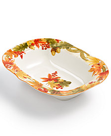222 Fifth Autumn Celebration Harvest Oval Serving Bowl
