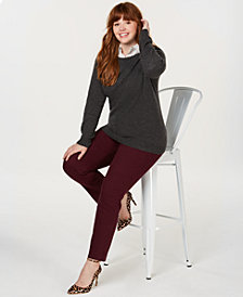 Charter Club Plus Size Cashmere Crewneck Sweater, Created for Macy's