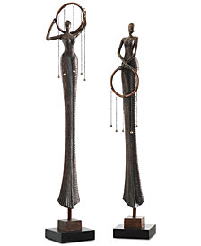 Uttermost Ring Dance Sculpture, Set of 2