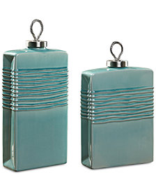 Uttermost Rewa Green Ceramic Containers, Set of 2