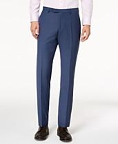 16dce0505 Hugo Boss Men's Modern-Fit Blue Mini-Check Suit Pants