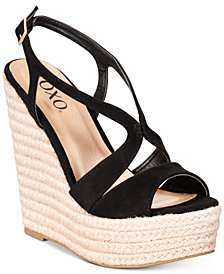 XOXO Sabeen  Espadrille Wedge Platform Sandals
