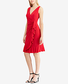 American Living Ruffled Sleeveless Dress