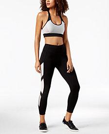 Calvin Klein Performance Metallic Shine Colorblocked Sports Bra & High-Waist Leggings