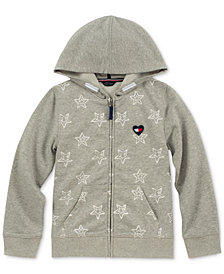Tommy Hilfiger Big Girls Star-Print Zip-Up Hoodie