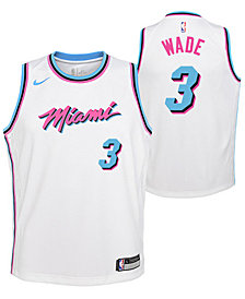 Nike Dwyane Wade Miami Heat City Edition Swingman Jersey, Big Boys (8-20)