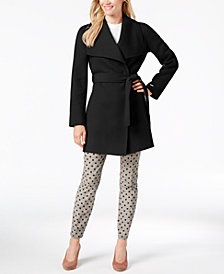 T Tahari Double Face Wrap Coat
