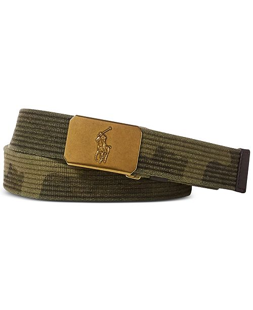 9c419de327 Polo Ralph Lauren Men's Camouflage Webbed Belt & Reviews - All ...
