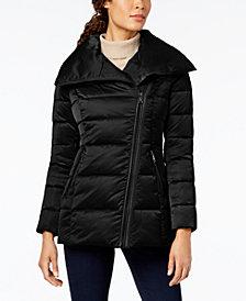 T Tahari Asymmetrical Puffer Coat