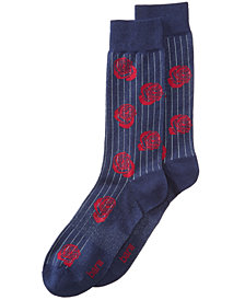 Bar III Men's Pinstriped Rose Socks, Created for Macy's