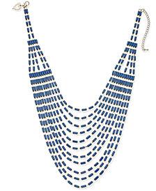 "Thalia Sodi Gold-Tone & Stone Multi-Row Statement Necklace, 16"" + 3"" extender, Created for Macy's"