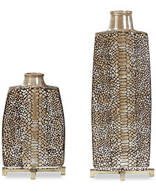 Uttermost Reptila Textured Ceramic Vases, Set of 2