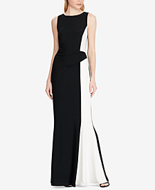 Lauren Ralph Lauren Two-Tone Matte Gown