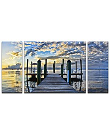 'Pier Burst' 3-Pc. Canvas Art Print Set