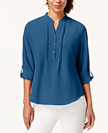 NY Collection Petite Utility Top