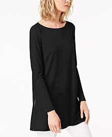 Eileen Fisher Stretch Jersey Boat-Neck Top, Created for Macy's