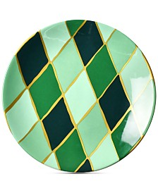 Coton Colors Emerald Collection Diamond Salad Plate