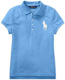 Polo Ralph Lauren Big Girls Big Pony Stretch Mesh Polo Shirt