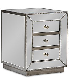 Varinia 3-Drawer Nightstand, Quick Ship