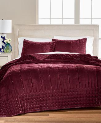Tufted Velvet Twin Quilt, Created for Macy's