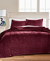 Martha Stewart Collection Tufted Velvet Full/Queen Quilt, Created for Macy's