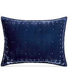 CLOSEOUT! Martha Stewart Collection Tufted Velvet Standard Sham, Created for Macy's