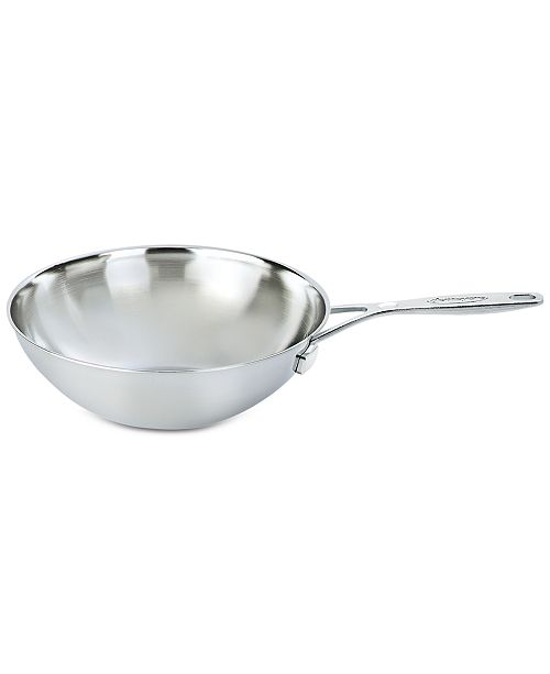 Industry 5 Qt Stainless Steel Flat Bottom Wok