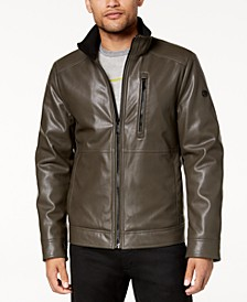 Men's Faux Leather Jacket, Created for Macy's