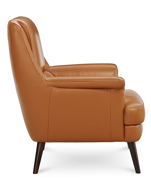 Enjoyable Milany Leather Accent Chair Created For Macys Gmtry Best Dining Table And Chair Ideas Images Gmtryco