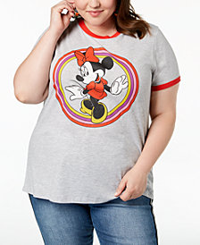 Mad Engine Plus Size Minnie Mouse Graphic-Print T-Shirt