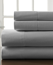 Hemstitch Cotton 400-Thread Count 4-Pc. White California King Sheet Set