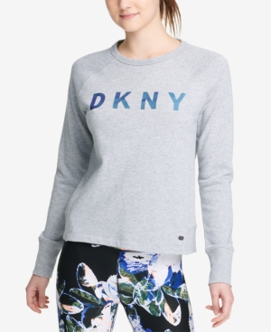 DKNY SPORT LOGO FRENCH TERRY CROPPED SWEATSHIRT