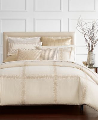 Mosaic Grid Embroidered Standard Sham, Created for Macy's