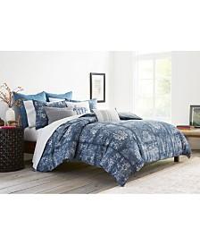 ED Ellen Degeneres Hanako Blue Full/Queen Comforter Set