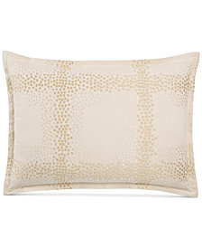 Hotel Collection Mosaic Grid Embroidered Standard Sham, Created for Macy's