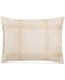 Hotel Collection Mosaic Grid Embroidered King Sham, Created for Macy's