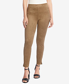 Karen Kane Faux-Suede Pull-On Skinny Pants