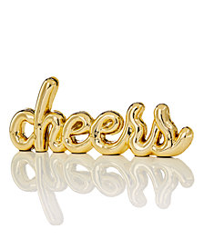 Holiday Lane Gold Resin Cheers Décor, Created for Macy's