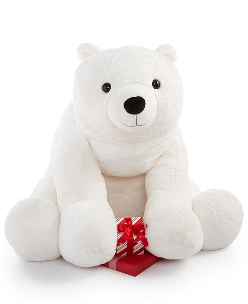 Holiday Lane White Plush 36 Large Polar Bear Created For Macy S