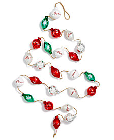 Holiday Lane Mini ''Love,'' ''Joy'' Glass Ball/Drop Garland, Created for Macy's