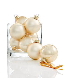 Holiday Lane 8-Pc. Champagne-Colored Ornament Set, Created for Macy's