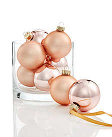 Holiday Lane Pink Ball Ornaments, Set of 8, Created for Macy's