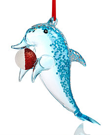Holiday Lane Dolphin with a Ball Ornament, Created for Macy's