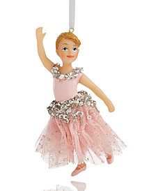 Holiday Lane Girl Ballerina with Beaded Tutu Ornament, Created for Macy's