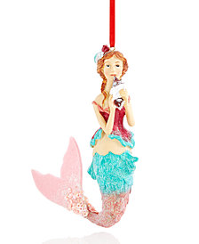 Holiday Lane Mermaid with Hot Pink Tail Ornament, Created for Macy's