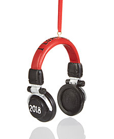 Holiday Lane 2018 Headphones Ornament, Created for Macy's