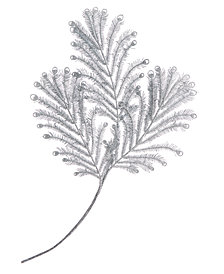 Holiday Lane Silver Leaves Pick Ornament, Created for Macy's