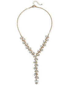 "Jewel Badgley Mischka Crystal Lariat Necklace, 18"" + 3"" extender"