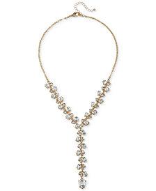 "Jewel Badgley Mischka Crystal Lariat Necklace, 18"" + 3"" extender"