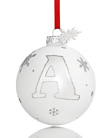 Holiday Lane Initial 'A' Ball Ornament, Created for Macy's